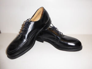 MEN'S LEATHER STEEL-TOED SAFETY WORK/DRESS SHOES - MINT COND.