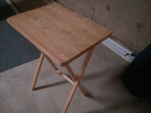 Fold out end table