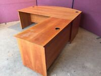 Executive cherry managers desk or reception counter delivered to Belfast