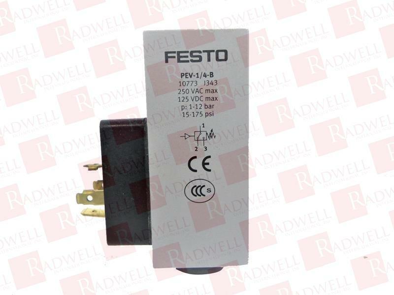 FESTO ELECTRIC PEV-1/4-B / PEV14B (USED TESTED CLEANED)