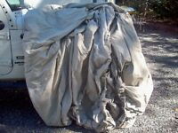 Canvas Boat cover (used on Hammond motorboat)