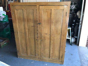 Antique Pine Storage Cupboard all original Circa 1900