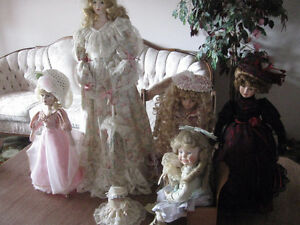 Porcelain Dolls, collectable,
