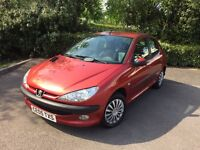 2005 Peugeot 206 Zest 2 1.1 5 Door - 85000 Miles - April 2017 Mot