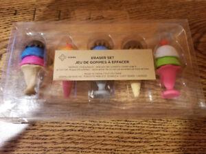 50 x Eraser Set Promotional Items Ice Cream & Macaroons