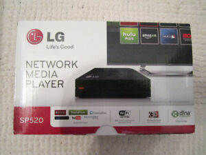 LG SP520 NETWORK MEDIA PLAYER TV UPGRADER WIFI HDMI DIVX NETFLIX