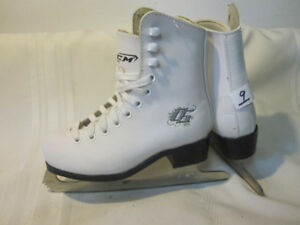 Girl's Figure Skates Youth Size 9 (Three Pairs)