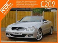 2007 Mercedes-Benz CLK CLK280 3.0 Avantgarde 7 Speed Auto Soft Top Convertible A