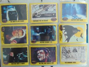 Batman movie serie II de Topps avec stickers cards