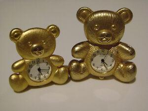 2 Teddy Bear Timepieces.
