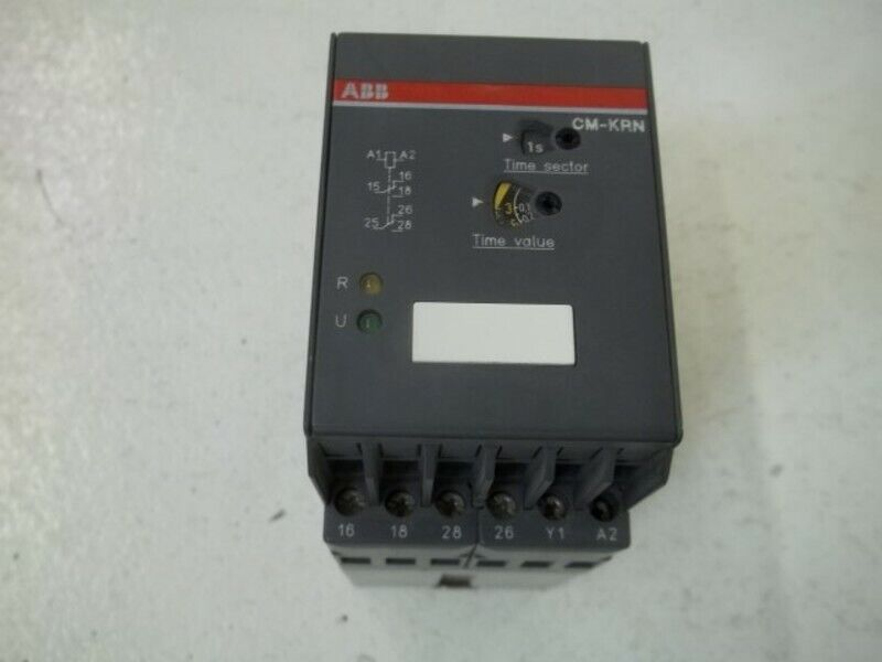ABB CM-KRN CONTACT PROTECTION MONITORING RELAY * USED *