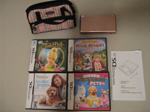 Pink DS Lite with case and games