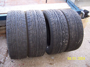 4---- 195--60-R-15    VERY  GOOD  TREAD   DIRECTIONALS