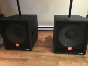 2 JBL MP418SP 18-inch subwoofers