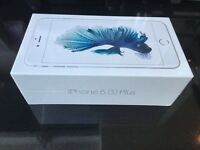 APPLE IPHONE 6S PLUS 128GB, SILVER WHITE UNLOCKED TO O2, GIFF GAFF, TESCO, BOXED IN MINT CONDITION