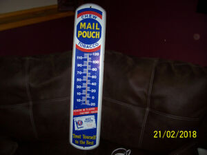vintage push bar & thermometers