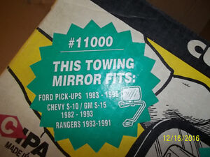 TOWING MIRROR - FORD PICK-UPS, CHEVY S-10 AND RANGERS