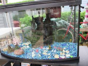 Aquarium 55 gal. et meuble