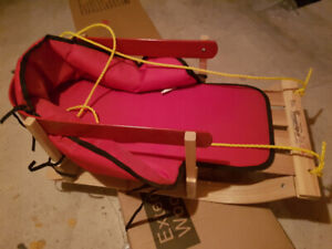 toddler wooden streamridge sled with padded seat