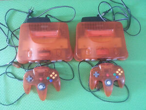 N64 Atomic Orange system with rare Nintendo 64 controller FIRE