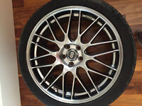 18 inch Enkei with conti rubber