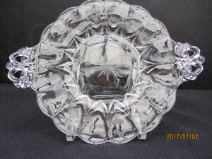 """VINTAGE 1940s GLASS """"SWEETS"""" PLATE"""