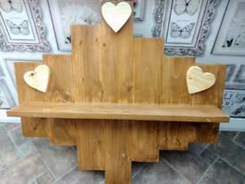 Pretty Rustic Heart shelf
