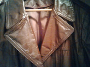 ** Brown, Long Men's Leather Coat for sale! **