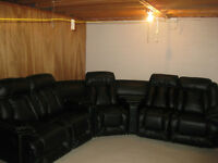 5 Seat Reclining Leather Sectional (New, never used)