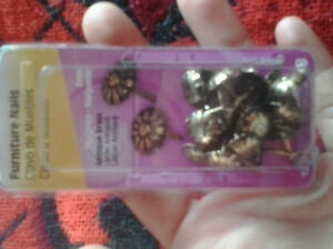 antique brass furniture nails(new in pack) staples too