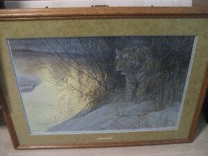 ROBERT BATEMAN-SIBERIAN TIGER LIMITED EDITION PRINT FRAMED