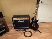 Gibson Les Paul Studio w/ Marshall amp