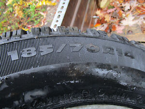 Winter Tires 185/70R14 with Aluminum Alloy Rims