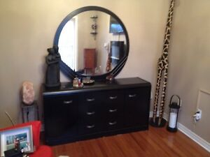 Mirror with dresser & chest
