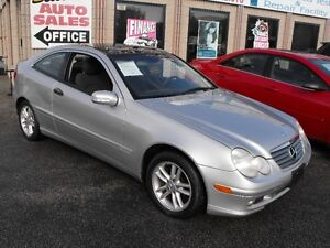 2003 MERCEDES KOMPRESSOR 2 DOOR  AUTO  SUNROOF  101,000 KMS