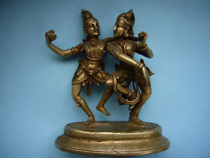 quality old silver metal detailed of ancient eastern dancing