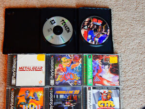 Playstation with 18 Games + Controllers + Multitap London Ontario image 3