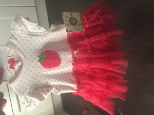 Infant strawberry dress 6 months