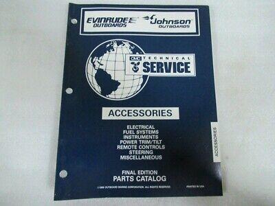 1997 Evinrude Johnson Accessories Final Edition Parts Catalog Manual P/N 176555