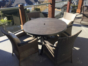 Heavy duty Round Patio Table and chairs