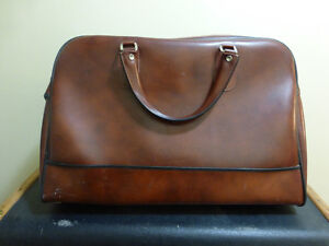 Vintage English Faux Leather Duffle Bag by Antler