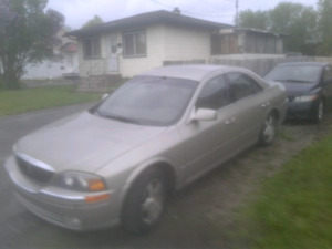 Lincoln ls v6 3.0 2001 120000km 2000$ wow.