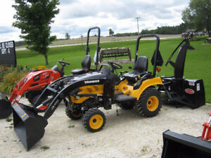 Yanmar Compact Tractor with loader and snowblower!