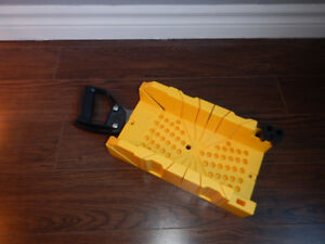 wood saw and angle cutter (good for cutting baseboards)