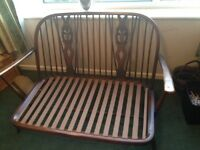 Ercol fleur de lys sofa and chair