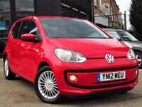 2012 VOLKSWAGEN UP 1.0 HIGH UP 3DR HATCHBACK MANUAL PETROL HATCHBACK PETROL