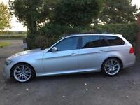 2010 10 BMW 330d M SPORT 3.0 TOURING ESTATE DIESEL AUTO SILVER PRO MEDIA SAT NAV