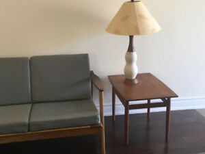 Refinished Mid Century Danish Sofa with New Upholstery