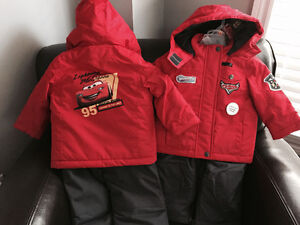 New! Disney Cars 2 of snowsuits size 12-18 Reduced!!