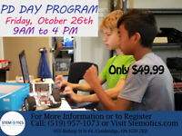 PD day on October 26th at STEMOTICS